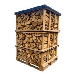 Palette Bois de chauffage 50 cm (1000kg) de bûches sèches haute performance
